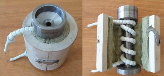 2. ábra A 6mm-es nyomófej fűtésének gyakorlati megoldása