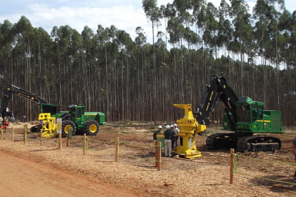 John Deere erdészeti gép nélkül nem is lett volna igazi az erdészeti kiállítás
