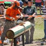 Darabolás Stihl motorfűrésszel a fakitermelő versenyen Forrás: oee.hu