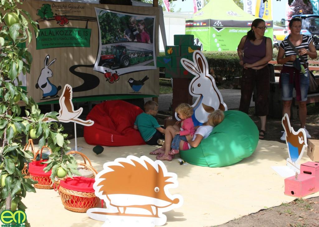 A gyerekek sem unatkoznak a derecskei almások standján