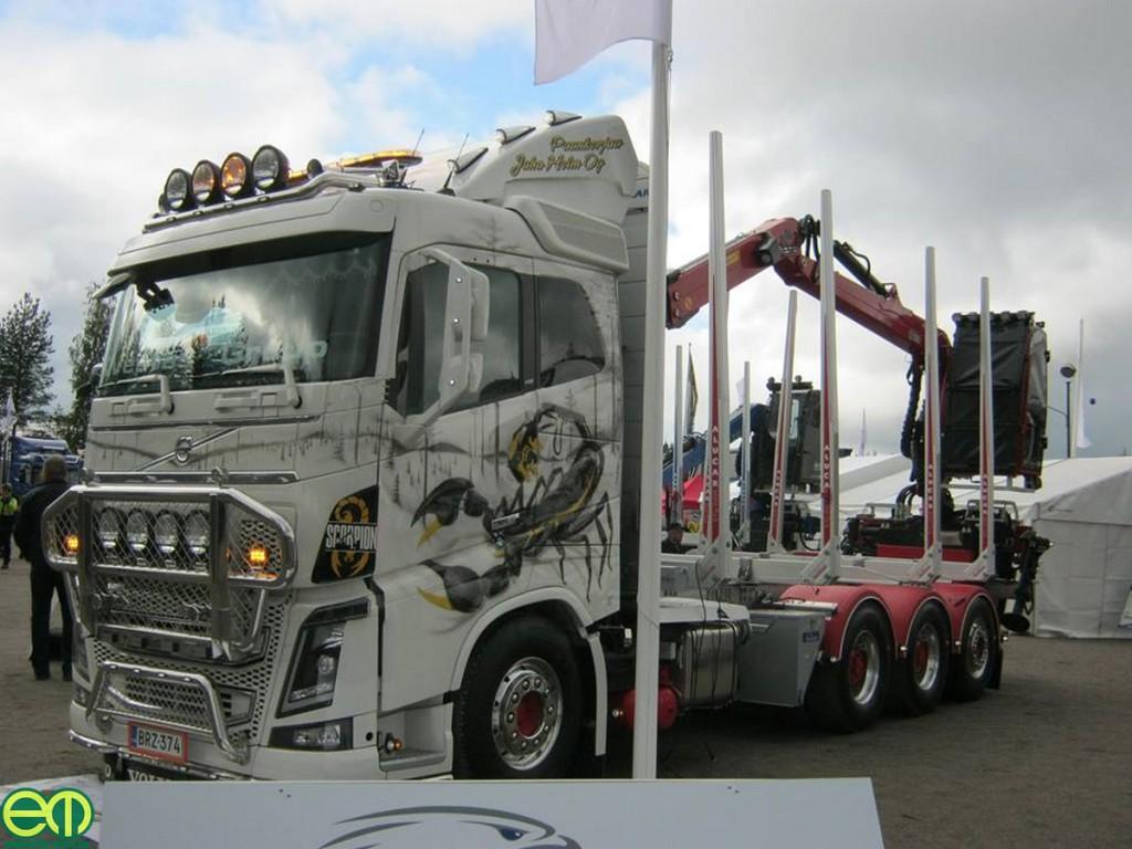 Rönkszállító kamion egyedi felfestéssel