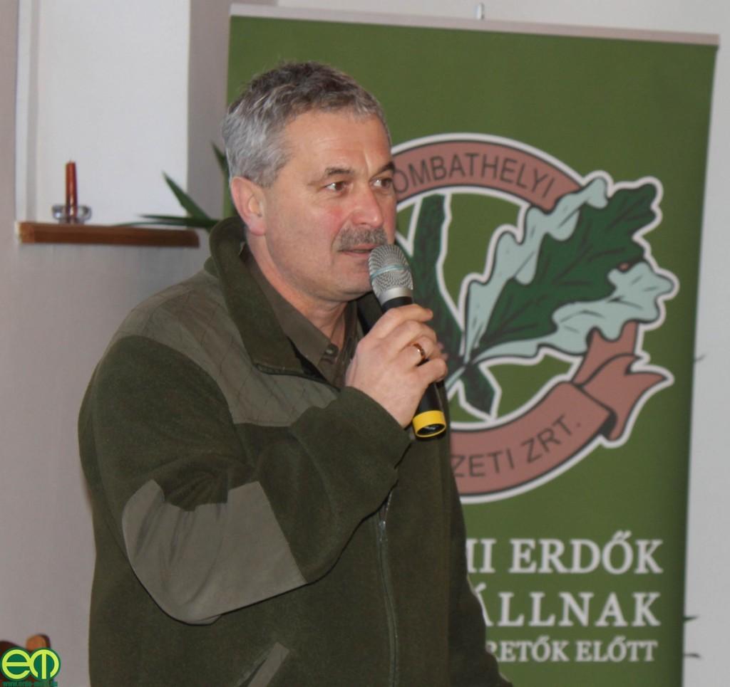 Bakó Csaba, a Szombathelyi Erdészeti Zrt. erdőgazdálkodási igazgatója