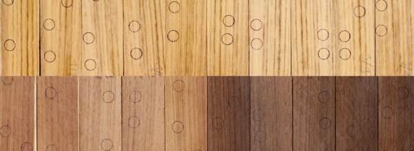 6. ábra: kezelés előtti (felső sor), és a hőkezelt (160˚C-1h alul balra, 180˚C-3h alul jobbra) minták összehasonlítása
