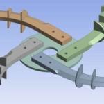 1. ábra: A forgó szerszám geometriai modellje