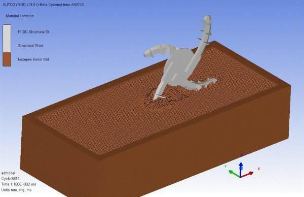 2. ábra: A forgó szerszám és a talajvályú