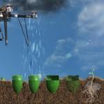 Az erdősítő drón-technológia vázlata