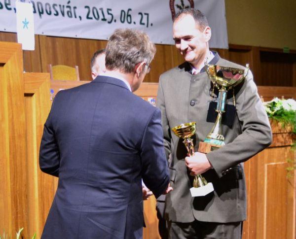 Tóth Péter, az Év Erdésze 2015-ben
