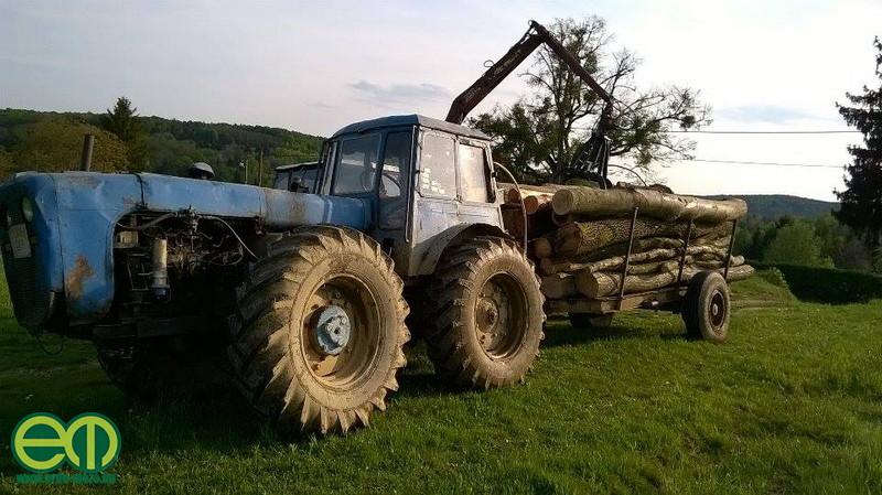 Csuk Dávid és az erdészeti Dutra traktor