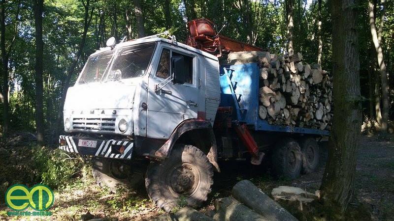 Drótos Norbert - rönkszállítás az erdőben Kamaz teherautóval