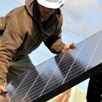 http://www.dreamstime.com/stock-photography-installing-solar-panels-image18730442