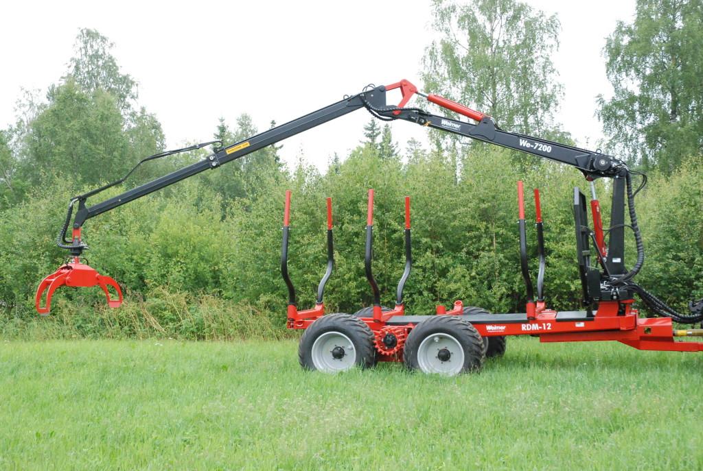 Weimer RDM-12 kihordókocsi We-7200 daruval