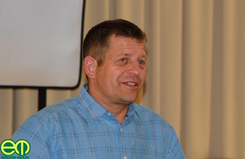 Kárpáti Béla, az Erdészeti és Energetikai Szaporítóanyag Terméktanács elnöke Bakonybélben