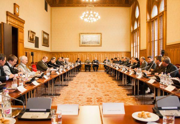 Egyeztetés a 2021-es, magyarországi Vadászati Világkiállításról (Parlament, 2017. január 30., fotó: OMVK   Földvári Attila)
