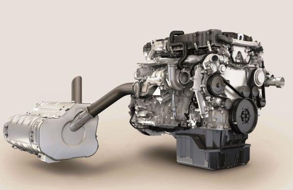 3. kép: MTU 6R 1000 sorozat jelzésű dízelmotor és kipufogógáz utókezelő rendszere