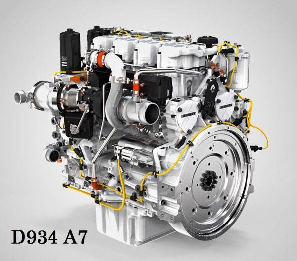 2. kép: Liebherr D934 A7 típusjelzésű dízelmotor