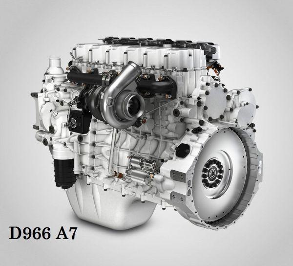 3. kép: Liebherr D966 A7 típusjelzésű dízelmotor