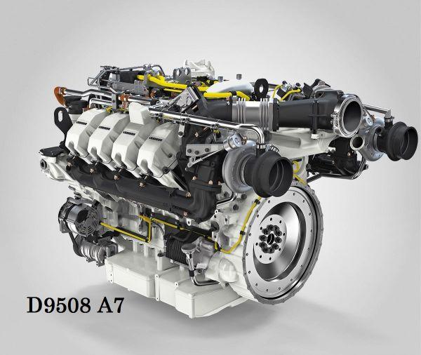 4. kép: Liebherr D9508 A7 típusjelzésű dízelmotor