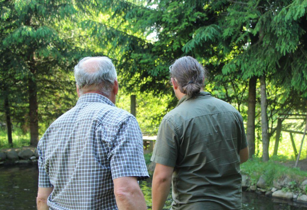 Pisztrángfogás - Az erdész tulajdonos és a szerző