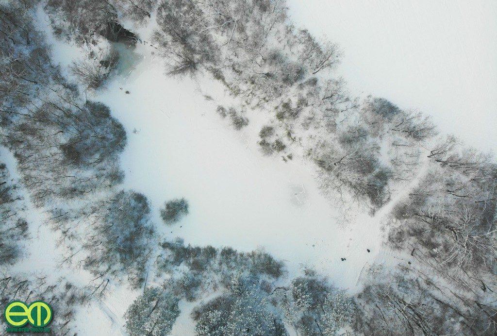 A befagyott Jági-tó Pilisszentivánon – Fotó: Gribek Dániel