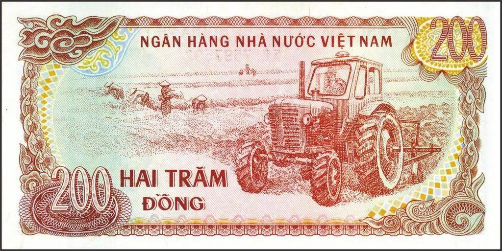MTZ traktor vietnami bankjegyen