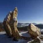 Kezet formázó kilátó Nógrádban