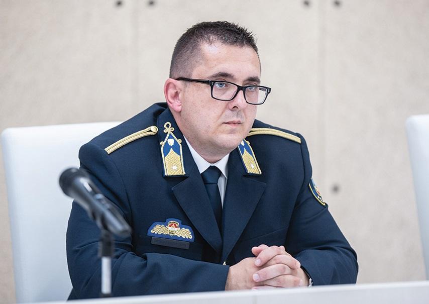 Bebes Zoltán alezredes, bűnügyi osztályvezető (Fotó: Fülöp Máté)